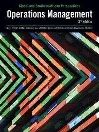 OPERATION MANAGEMENT: GLOBAL AND SA PERSPECTIVES